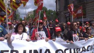 Recuperar salaris i el suport dels treballadors, reivindicacions principals de l'1 de Maig