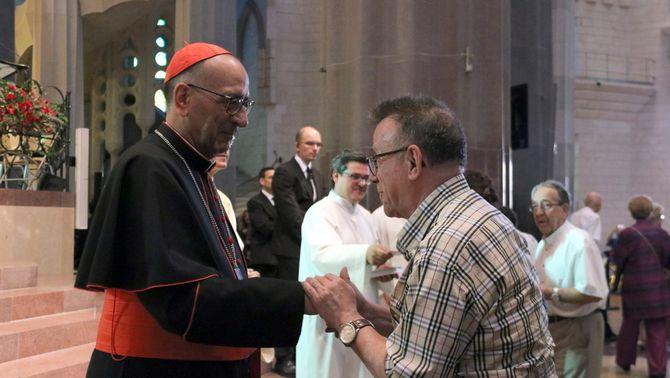L'arquebisbe Omella en una missa a la Sagrada Família