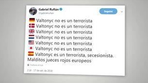 Les xarxes socials celebren la no extradició de Valtonyc