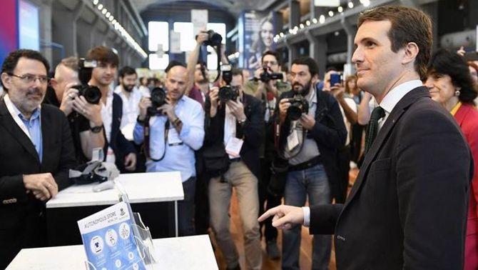 Casado durant la trobada d'emprenedors South Summit, a Madrid (EFE)