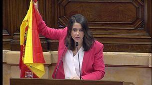 L'ultimàtum de Torra a Sánchez i la bandera d'Arrimadas, protagonistes del debat de política general
