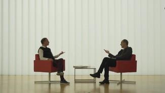 Imatge de:Lluís Gavaldà parla amb Gay Mercader