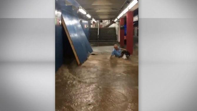 Les restes de l'huracà Barry generen una gran tempesta a Nova York