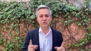 Víctor Font fent una declaració