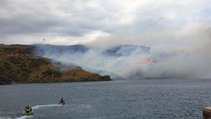 Estabilitzat l'incendi de Portbou, que ha cremat 48 hectàrees