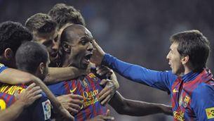 Abidal va signar el gol de la victòria del Barça. (Foto: Reuters)