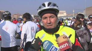 Protesta i record en bicicleta