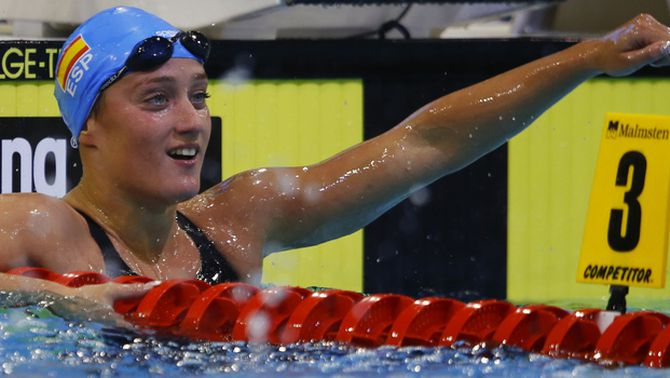 Mireia Belmonte guanya amb autoritat la medalla d'or als 1.500 metres a l'Europeu de Berlín
