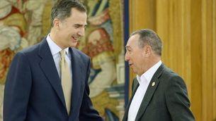 El rei ha encetat les consultes d'aquest dimarts amb Joan Baldoví, de Compromís (EFE)