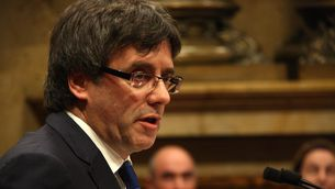 Carles Puigdemont, aquesta tarda, al Parlament