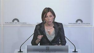 Forcadell exigeix explicacions al govern espanyol sobre el seu cas