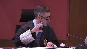 El fiscal Emilio Sánchez Ulled, aquest dijous, ratificant les peticions de pena per a Mas, Ortega i Rigau
