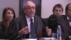 Xavier Melero, advocat d'Artur Mas, exposant l'informe final en el judici del 9N