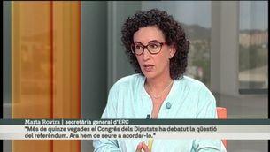 L'entrevista del diumenge: Marta Rovira, secretària gral. d'ERC