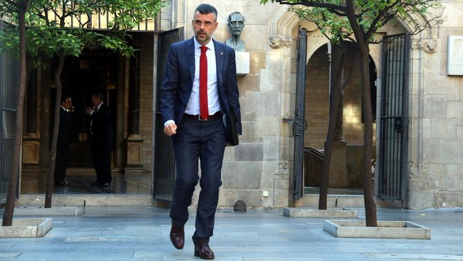 El fins avui conseller d'Empresa i Coneixement, Santi Vila, al Pati dels Tarongers (ACN)