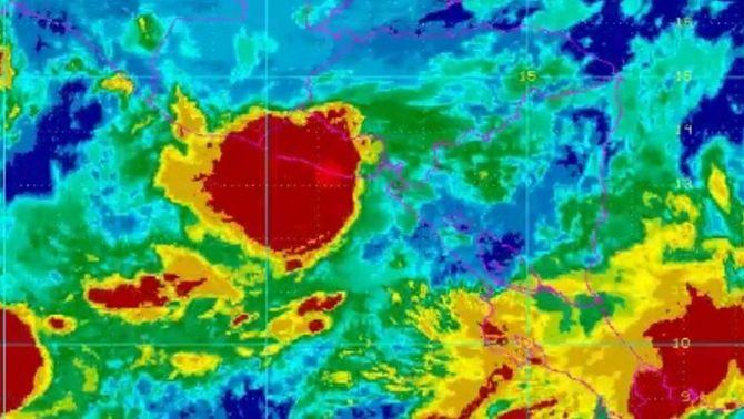 Imatge de satèl·lit de la tempesta tropical Selma (NOAA)