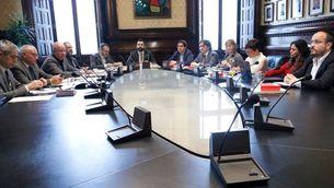 La mesa del Parlament, reunida aquest dimarts (ACN)