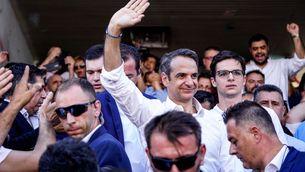 El líder del partit Nova Democràcia grec, Kyriakos Mitsotakis, després de votar a Atenes (Reuters)