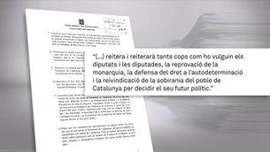 El Parlament votarà la resolució de JxCat, ERC i la CUP que desafia al TC