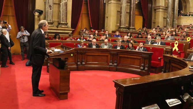 Els lletrats del Parlament avalen la continuïtat de Torra com a diputat i president