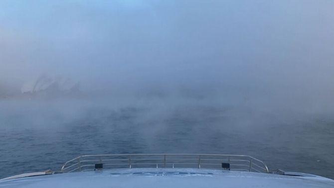 Time-lapse de la boira al port de Sydney