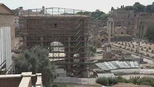 Restauració ecològica amb bacteris per recuperar l'arc de Septimi Sever a Roma