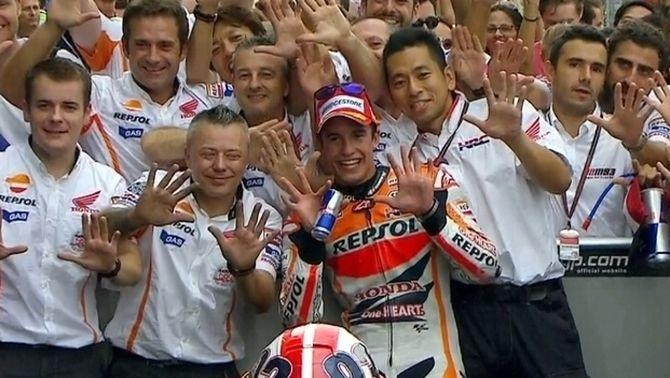 Marc Márquez iguala a Indianapolis la marca de Dohan en guanyar 10 curses seguides del Mundial de MotoGP