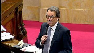 El president de la Generalitat, Artur Mas, a la sessió de control del govern