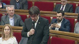 Sessió de control al Parlament prèvia a la trobada Rajoy-Puigdemont