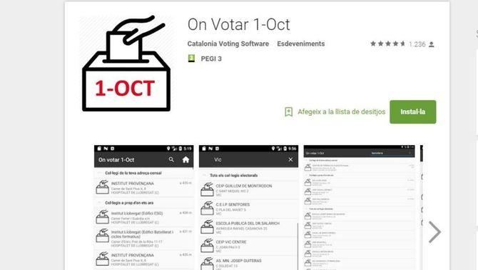 Google elimina l'app per saber on votar l'1-O per ordre del TSJC