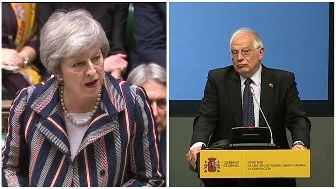May diu que Espanya no ha aconseguit el que volia amb Gibraltar i Borrell ho nega