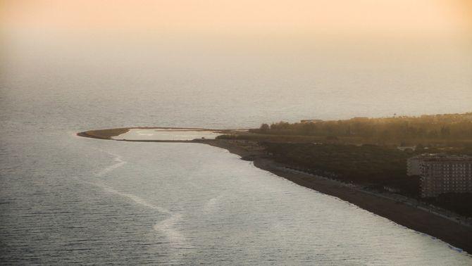El delta de la Tordera guanya més de 170 metres al mar