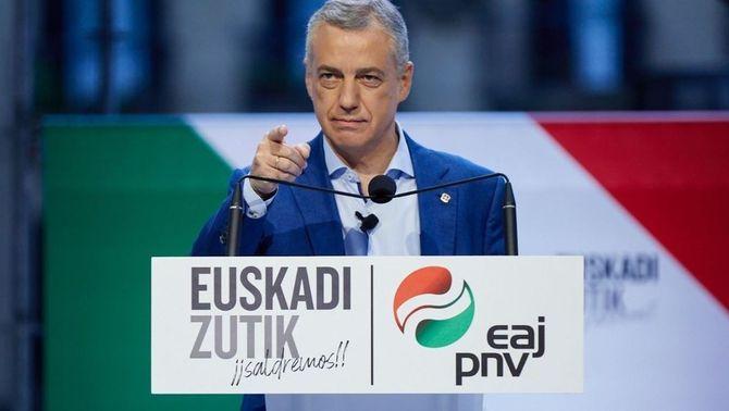Urkulu en un míting de campanya del PNB per les eleccions a Euskadi