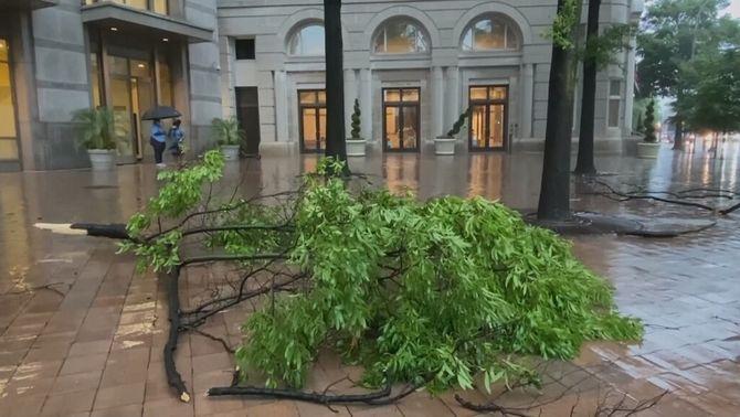 50.000 persones sense llum per una tempesta a Washington