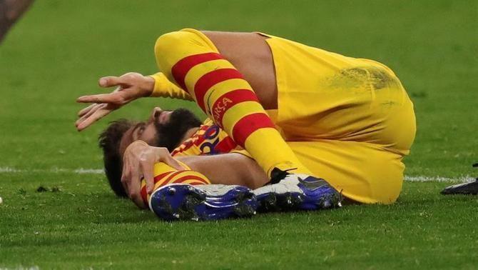 El Barça es desconnecta al Wanda i perd Piqué per lesió