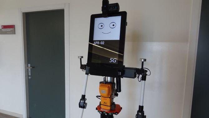 Pla obert del prototip del robot que mesura el diòxid de carboni en un espai tancat. Imatge del 20 de juliol de 2021. (Horitzontal)