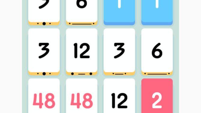 Imatge del videojoc Threes