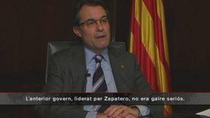 Mas avisa que si Rajoy no ajuda les comunitats l'Estat es col·lapsarà