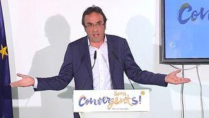 Josep Rull, a la seu de Convergència
