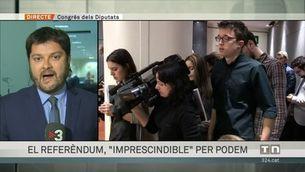 """El referèndum, """"imprescindible"""" per Podem"""