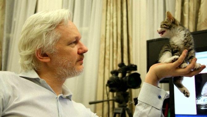 El fundador de Wikileaks, Julian Assange, fa quatre anys que està reclòs a l'ambaixada de l'Equador a Londres