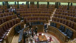 Interior del Congrés dels Diputats a Madrid