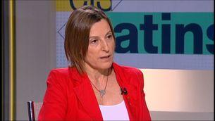 """Carme Forcadell, aquest divendres, a """"Els matins"""" de TV3"""