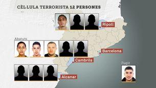 Els 12 components de la cèl·lula terrorista