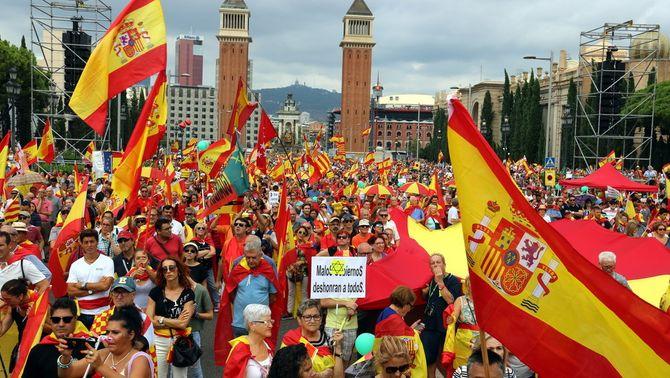 Manifestació per la unitat d'Espanya a Barcelona (ACN)
