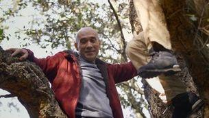 El primer bany de bosc del Gaspar acaba dalt d'un arbre