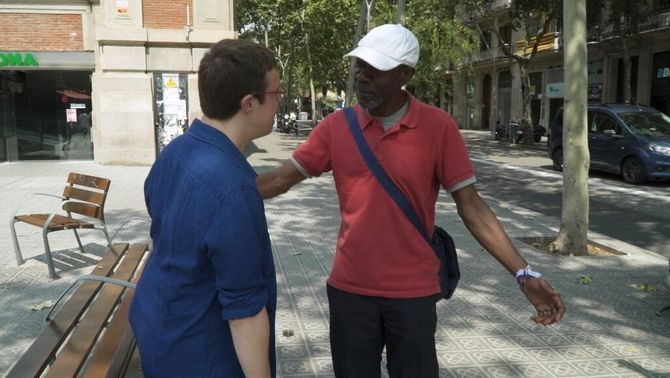 """Valerio N'Dongo: """"Quan vius al carrer passes por. Hi ha gent agressiva amb nosaltres"""""""