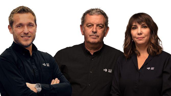 Joan Ramon Vallvé, Víctor Tomàs i Mireia Vicente