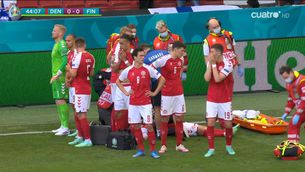Suspès el Dinamarca - Finlàndia en quedar inconscient el jugador danès Christian Eriksen