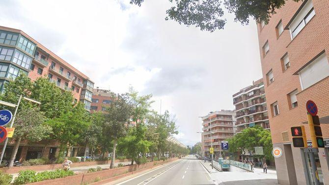Carrer Aragó en una imatge de Google Street View